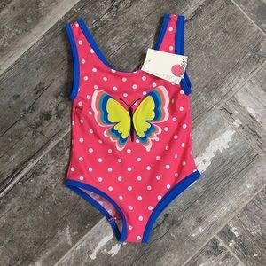New with tag Mini Boden girls' butterfly swimsuit